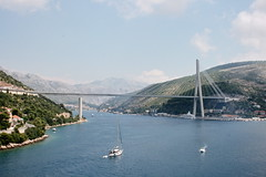Bridge on leaving Dubrovnik Croatia (David Russell UK) Tags: road bridge sea water crossing croatia dubrovnik
