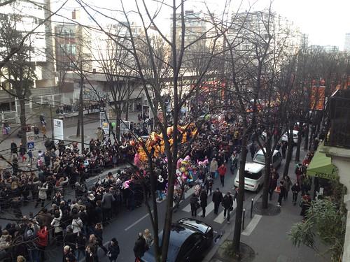 Défilé du Nouvel an chinois sur l'avenue de Choisy
