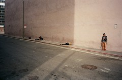 Hanging out Downtown (Robert Ogilvie) Tags: foundinsf olympusxa gwsf fujiproplusii200