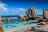 DSC_3754 (NICOLAS POUSSIN PHOTOGRAPHIE) Tags: soleil eau sable bleu coco fin vague plage rocher palmier bois seychelle turquoide