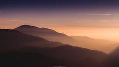 Layers (Nicola Pezzoli) Tags: sunset sky italy mountain fall nature fog clouds season horizon val bergamo seriana casnigo gandino