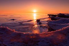 Sunrise Glow (.:: Nelepl ::.) Tags: winter sunset canada ice sunrise glow manitoba lakewinnipeg