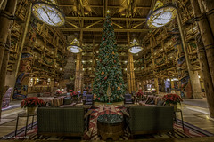 Disney's Wilderness Lodge Lobby 01 (JUNEAU BISCUITS) Tags: christmas vacation hotel orlando christmastree disney resort lobby wdw waltdisneyworld nationalparks disneyswildernesslodge