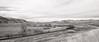 BNSF Late Fall In The Hills (LostOzarkRambler) Tags: bnsf burlingtonnorthernsantafe railroad wyoming blackandwhite bw monochrome nikond800 28mm