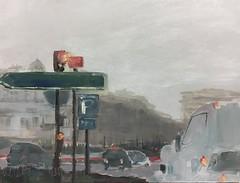 Porte Maillot, Paris, foggy day. #oilpainting #dailypainting #paris #huile (julietteplisson) Tags: oilpainting dailypainting paris huile