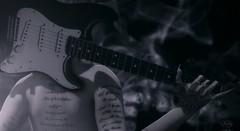 Music is the language of emotions (Petite Chouky) Tags: guitar music chouky sl second life dark smoke