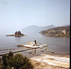 img366 (foundin_a_attic) Tags: glass slide 77 medium format slides corfu sea hills boats