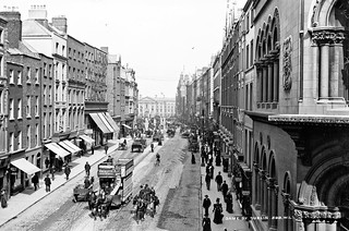 Dame Street in the centre of Dublin