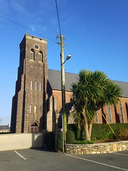 St James's Church (JulieK (thanks for 8 million views)) Tags: 117picturesin2017 2017onephotoeachday hww wall church ramsgrange wexford ireland irish catholic telegraphpole bluesky winter