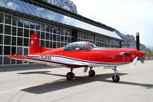 A932_Pilatus_PC7_Pïlotenschule_SwissAF_Meiringen20160427_2