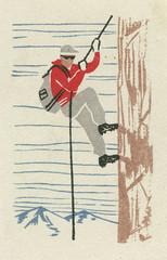 russian matchbox label (maraid) Tags: russia russian matchbox label packaging sport climb climber rockface cliff rope iceskating