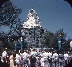 Tomorrowland Reel 3, #1b - Disneyland Matterhorn Attracts All Eyes (Tom Simpson) Tags: viewmaster slide vintage disney disneyland 1960s vintagedisney vintagedisneyland