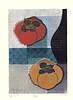 Japanese persimmon (Japanese Flower and Bird Art) Tags: flower persimmon diospyros kaki ebenaceae toru mabuchi modern woodblock print japan japanese art readercollection