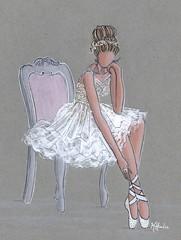 """ La Petite Ballerine"" Persy Bridal Competition (Kristina's Fine Art) Tags: ballerina kristinaherediaart fashionillustration ballet bridal weddingart delicate balletshoes tulle decor art"
