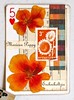 Mexican Poppy (Lydia's Post) Tags: apc atc artcard collage flowers floralart orange poppy