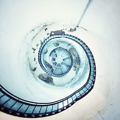 Spiralling (~Ventnor~) Tags: spiral whitewash simonlowe iphone tyneside northeast whitleybay stmarys inside concrete staircase stairs lighthouse