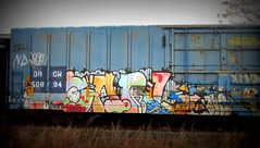 hot carl (timetomakethepasta) Tags: hot carl enron freight train graffiti art drgw boxcar golden west service troy new york photograph photography nr