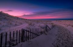Final Light (Arno Gartzke) Tags: massachusetts cod cape provincetown beach sand dune drifting sunset sun darkness ocean sea seaside setting clouds