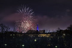 _MG_5248 WOSP 2017. (Sakuto) Tags: fireworks light night city poznan wosp landscape tower blue colors outdoor colorful poland sky