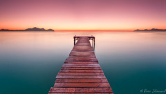 Muro Jetty Pano (buddsnax) Tags: majorca mallorca spain med mediterranean sunrise jetty panoramic pano symmetry colourfulsunrise le longexposure beach holiday tranquility peaceful europe