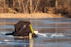Ice Fishing (nikons4me) Tags: iowa ia icefishing iceshack bentoncounty hannenlake frabill ice lake winter sunny nikond70 tamronaf70300mmf4056ldmacro