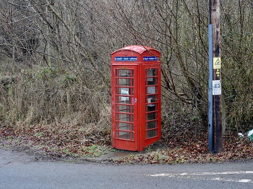 Phone Box, A479, Pengenffordd, Powys 18 January 2017