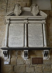 044-20160813_Abberley Norman Church-Worcestershire-Nave, S side (originally Chancel)-memorial tablet to Elizabeth Walsh (d.1645) (L) and Ann Walsh (d.1679) (R) (Nick Kaye) Tags: abberley worcestershire england church memorial