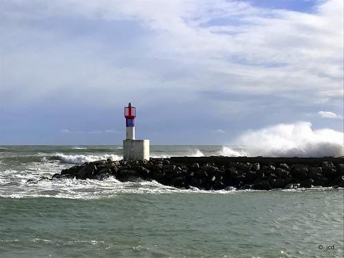 Tempête entre Palavas-les-Flots et Carnon