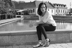 Ivett (serkoh) Tags: girl portrait people fashion urbanportrait canonef40mmf28stm canoneos550d bw blackandwhite