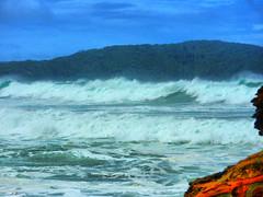 sml-fhdr-DSCN0148 (elphweb) Tags: roughseas roughsea ocean nsw australia sea water waves breakers storm coast coastal falsehdr fhdr bigwaves bigsurf surf foam mist