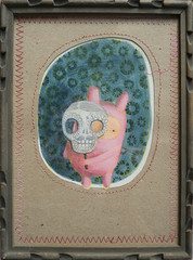 MrRabbit's Día de los Muertos celebration (hilorojo) Tags: mrrabbit rabbit love costume painting paint fun art arte pintura papel paper amor doodling doodle garabato pink rosa