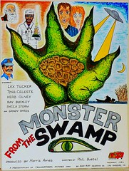 Monster From The Swamp (KRS-well) Tags: film monster illustration giant movie poster fifties drawing mixedmedia fantasy swamp scifi horror fi lowbudget mad creature cheesy sci genre scientist bmovie fictitious