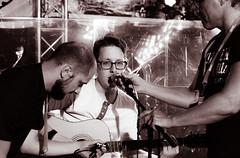 Soundcheck (qwoscar) Tags: singing sweden guitar stage microphone fujifilm soundcheck monocrome malmfestivalen soundtech xe2 ungscen