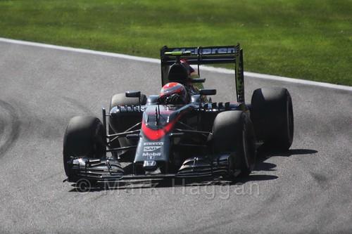 Jenson Button in Free Practice 3 for the 2015 Belgium Grand Prix