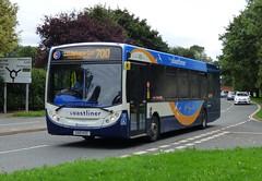 Stagecoach South 27650 (GX10 KZC) Chichester 27/8/15 (jmupton2000) Tags: uk bus sussex south coastline 300 alexander dennis 700 stagecoach enviro southdown coastliner gx10kzc