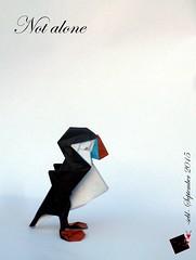 not alone (-sebl-) Tags: sea france bird paper origami colours protection sebl