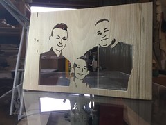 Here is a Scroll Saw portrait that is fresh from the Workshop