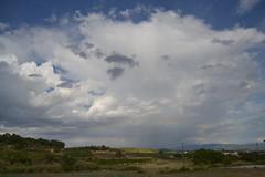 Arco iris (esta_ahi) Tags: barcelona sky espaa arcoiris clouds rainbow spain cel cielo nubes nvols peneds arcdesantmart guardioladefontrub