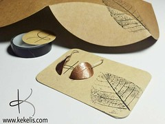 New packaging!  #craft #box #leaf #stamp #branding #handmade #packaging #jewelry (Kejoyas) Tags: leaf box handmade craft jewelry stamp packaging branding