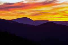 BRP Sunset 46 (jtmoutdoors71) Tags: travel sunset sky orange mountains nature weather clouds landscape outdoors nationalpark nikon colorful cloudy places explore parkway nationalparks blueridgemountains blueridgeparkway sunsetting blueridge d7000 nikond7000 outdoorsweather