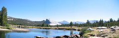 Panorama of Tuolumne River with Lembert Dome at the center - Tuolumne Meadows, Yosemite  8-04 (Bob_ Perry) Tags: yosemite tuolumnemeadows lembertdome tuolumneriver