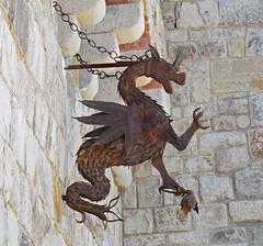 Castello di Amorosa (kenjet) Tags: california brick castle stone wall rust dragon calistoga rusty winery ornament castello amorosa castellodiamorosa