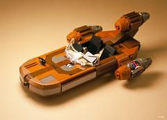 X-34 Landspeeder (_Tiler) Tags: starwars desert lego luke iv episode moisture droid landspeeder c3po skywalker tatooine obiwan kenobi droids evaporator x34landspeeder