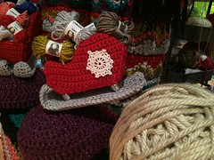 2015-10-06 21.09.32 (The Crochet Crowd) Tags: party crochet mikey exhibit yarn nutcracker artistry freeform caron simplysoft creativfestival yarnbomb crochetcrowd crochetnutcracker crochetstatue