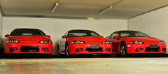 3 red sibblings (v6rev) Tags: auto red rot car eclipse automobile automotive 1999 spyder 98 turbo 99 ii mk2 1998 20 rood rosso d30 gst mitsubishi dsm i4 mkii 2g gen2 rossa automobil machina kfz d32