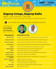 Regional TV: Bagong Umaga, Bagong Balita (abscbn360) Tags: morning tv shows local regional abscbn umaga bagong balita