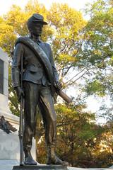 Autumnal bokeh - HBW ! (RPahre) Tags: autumn fall statue soldier bokeh union sherman hbw