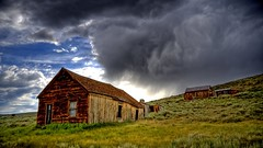 Bodie Ghost Town Storm (xc.ricardo) Tags: california copyright usa nature canon landscape photo ghosttown 2009 hdr allrightsreserved stormclouds easternsierras bodiehistoricstatepark 40d photographersnaturecom davetoussaint davetoussaintcom
