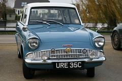 1965 Ford Anglia (davocano) Tags: 105e ure35c waltonbridgebreakfastclub