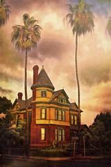 The Britt-Scripps Inn (Artypixall) Tags: california texture sandiego digitalpainting palmtrees historichome bedbreakfast hillcrest victorianhouse faa